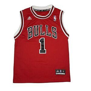 Derrick Rose Chicago Bulls # 1 Adidas Basketball Jersey Youth Size Medium 10 -12