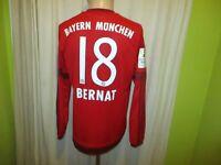 "FC Bayern München Adidas Langarm Trikot 2015/16 ""-T---"" + Nr.18 Bernat Gr.M Neu"