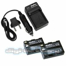 TWO BATTERIES + CHARGER Pack For NIKON ENEL3 EN-EL3 EN-EL3A Camera Battery X2