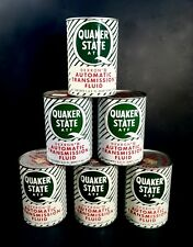 Vintage 1960's 70's Quaker State ATF Old Tin Oil Can Nice Single Can Sale