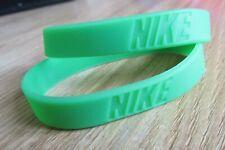 x2 Green Nike Baller Band Silicone Rubber Bracelet