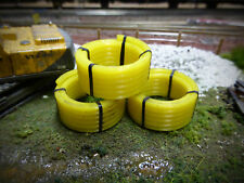 3x 3D PRINTED COILED PIPE WAGON LOADS OO GAUGE MODEL RAILWAY 1:76 SCALE AX054-OO