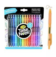 Crayola Take Note 0.7mm Medium Point Washable Gel Pens - 14 Pack - Multi Color