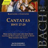 RILLING BACH-COLLEGIUM STUTTG - V 9: CANTATAS (BWV 27/28/29) [CD]
