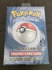 Pokemon Base Set unlimited 2 two Player Starter Deck Factory Sealed no reserve!