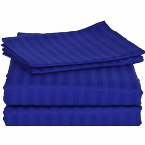 All Bedding Sets Item Choose Size & Item Egyptian Blue Stripe 1000TC EgyptCotton