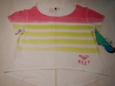 Roxy Neon Tie Dye Hot Pink Shirt Beach Coverup Rashguard Surfer Medium Workout