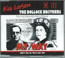 THE BOLLOCK BROTHERS W NICK LEESON My Way Selling England For A Pound CD SINGLE