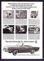 "1963 Renault Caravelle Convertible ""S"" photo vintage promo print ad"