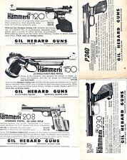 1977 small Print Ad of Gil Hebard Hammerli 120 150 208 230 & P240 Pistol 5 ADS