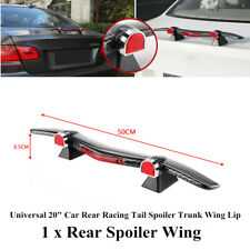 "Universal 20""Carbon fiber ABS Car Truck Rear Racing Tail Spoiler Trunk Wing Lip"