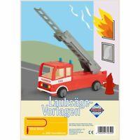 PEBARO Laubsägevorlage Feuerwehrwagen, 3D Figur