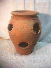 Standard Strawberry Pot - Herb Jar - Terracotta 6 Pocket 2inx 2in Holes Clay
