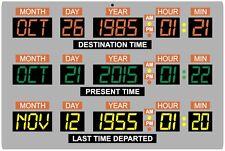 "Back to the Future Car DeLorean Time Machine Dashboard 12"" x 18"" metal sign"