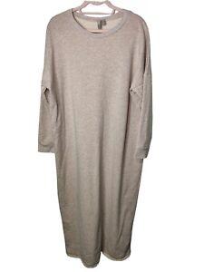 ASOS Jumper Dress Maxi Size 16 Oversized Worn as 18-20-22 Beige Marl Sweater