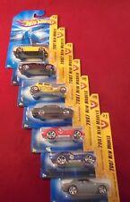 Lot of 7, Mattel Hot Wheels 1:64 scale 2007 New Models Series MIB