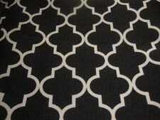 "Outdoor Upholstery Moroccan black Waterproof Canvas fabric 60"" wide 25 yards"