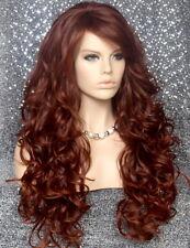 Long Beach Wavy Auburn Mix Full Wig Heat OK Hair Piece Layers Bangs 33-130 WBT