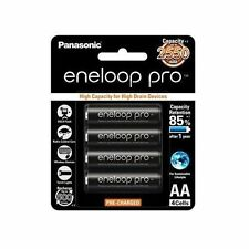 4x Panasonic Eneloop Pro 2550mAh AA High Capacity Rechargeable Batteries New MH