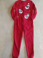 boys girls MINIWEAR CHRISTMAS PAJAMAS 1 piece sleeper ROMPER snowman size 2T 3T