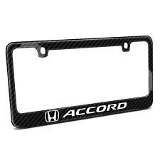 Black Real Carbon Fiber License Plate Frame - Honda Accord
