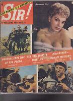 November 1952 Sir Magazine Eva Peron Douglas MacArthur Barbara Nichols