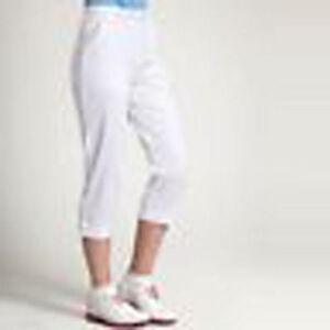 Glenmuir Ladies Capri Golf Pants white iris or peapod 8 10 18 bnwt 50% off