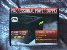 Evo Labs 600W Switching PSU Power Supply Unit Silent Black Fan for PC, Computer