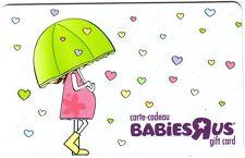 TOYSRUS BABIESRUS COLLECTIBLE GIFT CARD NO VALUE *BILINGUAL*