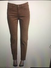 NWT  NYDJ Not Your Daughters Jeans NUTMEG CHEETAH PRINT Sheri Slim $130 Size 12P