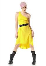 MATERIAL GIRL Vokuhila One Shoulder Party Kleid  NEU gelb