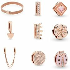 925 Silver Rose Gold Reflections Clip Charms Compatible Reflexion mesh bracelets