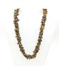 Ready to Wear Stone Necklace Natural Untreated Tiger's Eye Designer