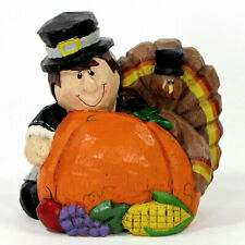 "Midwest of Cannon Falls Pilgrim Turkey 3.75"" Figurine Thanksgiving Eddie Walker"