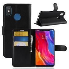 Funda para el Xiaomi Mi 8 Libro Cover Wallet Case-s bolsa Negro