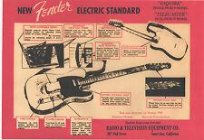 FENDER TELECASTER GUITAR POSTER. A3 repro. Blues.