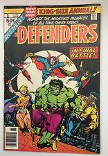 Defenders Annual #1 ~Jim Starlin ~ Luke Cage Dr Strange Valkyrie Hulk 1977 VF+