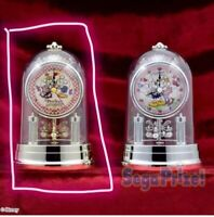 New Mickey & Minnie My chery Premium Swing Dome Clock Gold Japan Disney Sega