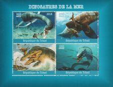 Madagascar 7729 - 2018  MARINE DINOSAURS  perf sheet of 4 unmounted mint