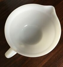 Vintage FIRE KING OVEN WARE 4 cup 1 quart MEASURING CUP BOWL WHITE  MILK GLASS