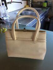 Vintage Mod Handbag Cream 1960s Cute Ditsy (see interior)