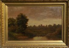 Antique Original Tonalist Oil Painting by Hal Robinson (attributed) Listed