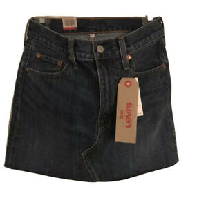 New Levis Skirt 26 Levi's Denim Jeans NWT Classic Frayed Vintage Deconstructed
