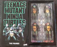 """4-Pack NECA Teenage Mutant Ninja Turtles TMNT 1990 Movie 7"""" Action Figure Toys #"""