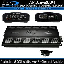 4 Channel Amplifier 2000W Max 4CH Fullrange Car Audio Amp Audiopipe APCLE-2004