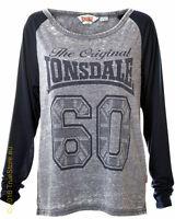 Lonsdale Langarm Damen T-Shirt Rhynie