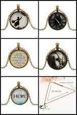 Retro Vintage 3D Collar Colgante de cadenas de caballo esperanza