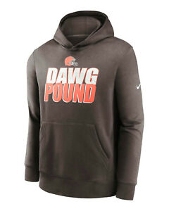 Cleveland Browns Nike Youth Boys Dawg Pound Club Pullover Hoody Sweatshirt