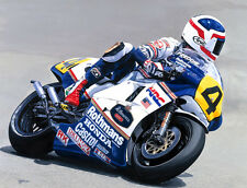 Freddie Spencer Honda NSR 500cc Grand Prix Motorcycle Racing Motorbike Art Print