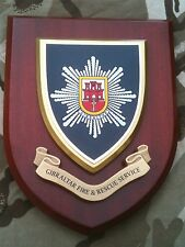 Gibraltar Fire and Rescue Service Brigade Wall Plaque Shield